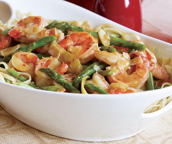 lemon linguini with shrimp and asparagus